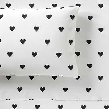 The Emily & Meritt Heart Sheet Set, Queen - Pottery Barn Teen