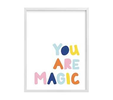 west elm x pbk You Are Magic Wall Art by Minted(R), White, 18x24 - Pottery Barn Kids