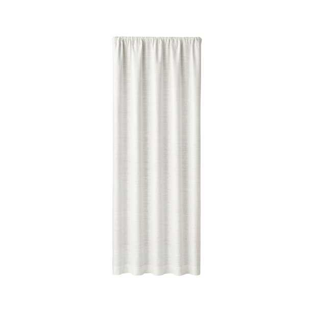 """Silvana Ivory Silk Blackout Curtain Panel 48""""x96"""" RESTOCK IN MID JUNE,2021 - Crate and Barrel"""