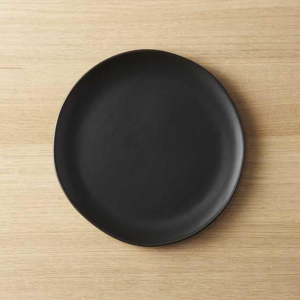 Crisp Matte Black Salad Plate - CB2