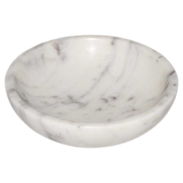 """Pax Modern Classic Purple & White 4"""" Marble Bowl - Kathy Kuo Home"""