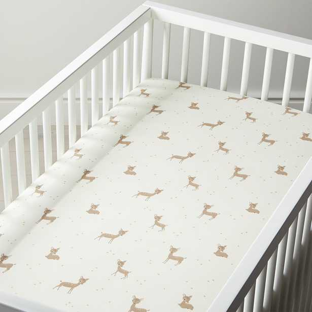 Organic Little Fawn Crib Fitted Sheet - Crate and Barrel