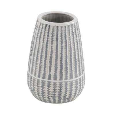 Gittens Modern Cylinder Ribbed Ceramic Table Vase - Wayfair