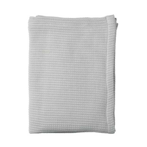 Cable Knit Cotton King Blanket in Gray - Home Depot