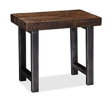Griffin Wrought Iron & Reclaimed Wood Side Table - Pottery Barn