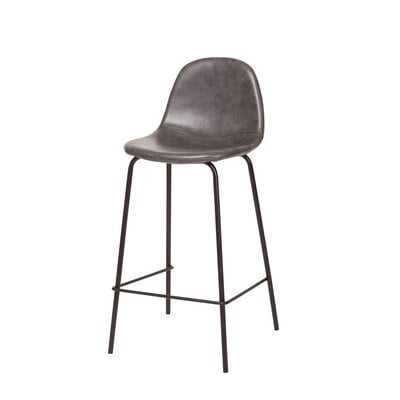 Smart Counter Stool In Distressed Color Leather - Wayfair