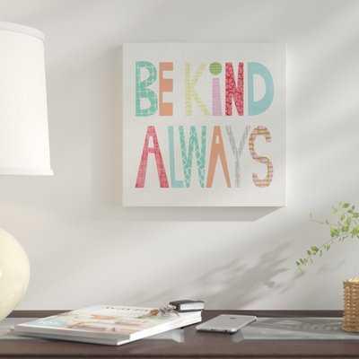 'Kid Play I' Textual Art  on Wrapped Canvas - Wayfair