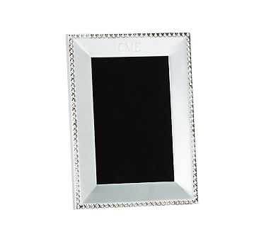 """Beaded Silver-Plated Picture Frame, 4 x 6"""" - Pottery Barn"""