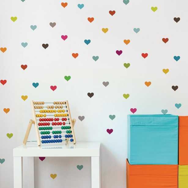 """Adzif """"Little Hearts"""" Kids Wall Decal (2-Sheets) - Home Depot"""