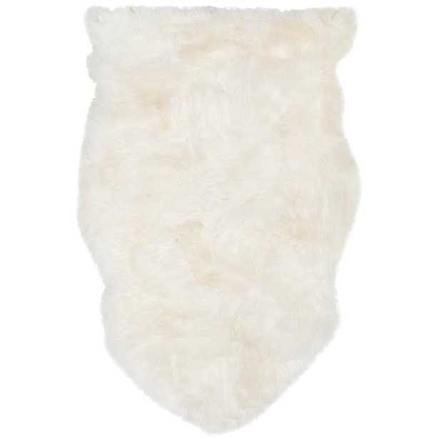 Sheep Skin White 2 ft. x 3 ft. Area Rug - Home Depot