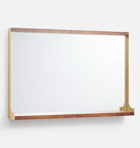Wide Industrial Shelf Mirror - Rejuvenation
