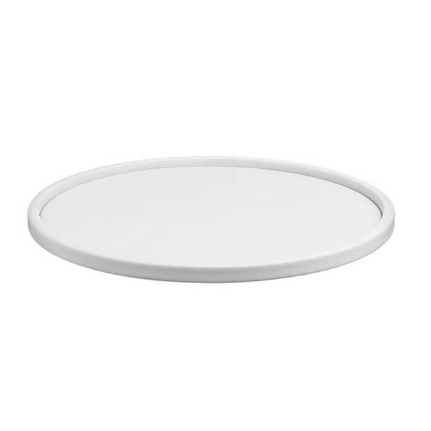 Contempo 14 in. Round Serving Tray in White - Home Depot