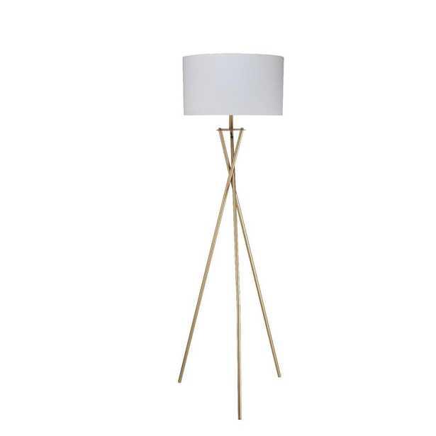 ORE International Ester 64.5 in. Matte Gold Hourglass Floor Lamp - Home Depot