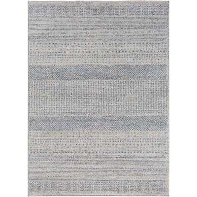 Ponce Medium Gray/Bright Blue Area Rug - Wayfair