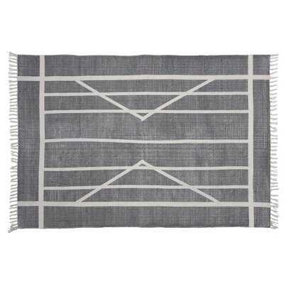 Harvill Block Print Rug Cotton Rug, 4x6, Centerpoint Stripe - Wayfair