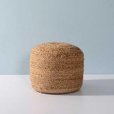 Tibbs Upholstered Round Pouf - Wayfair