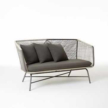 Huron Sofa, Gray/Seal - West Elm