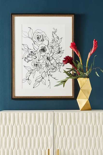 Ink Floral Wall Art - Anthropologie