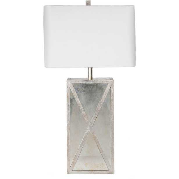 Artistic Weavers Dennard 27 in. Antiqued Mirror Indoor Table Lamp - Home Depot