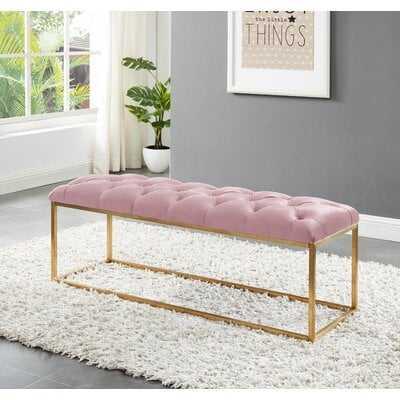 Benkelman Bench With Gold Colored Legs - Wayfair