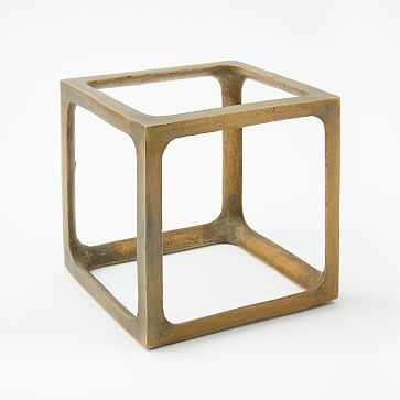 Metal Cube Object, Medium - West Elm