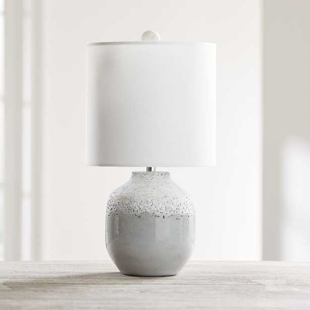 Quinn Grey and White Table Lamp-Backordered till Est:June - Crate and Barrel