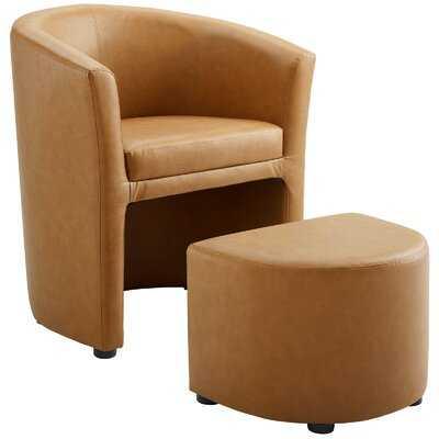 Darvin Barrel Chair and Ottoman - Wayfair