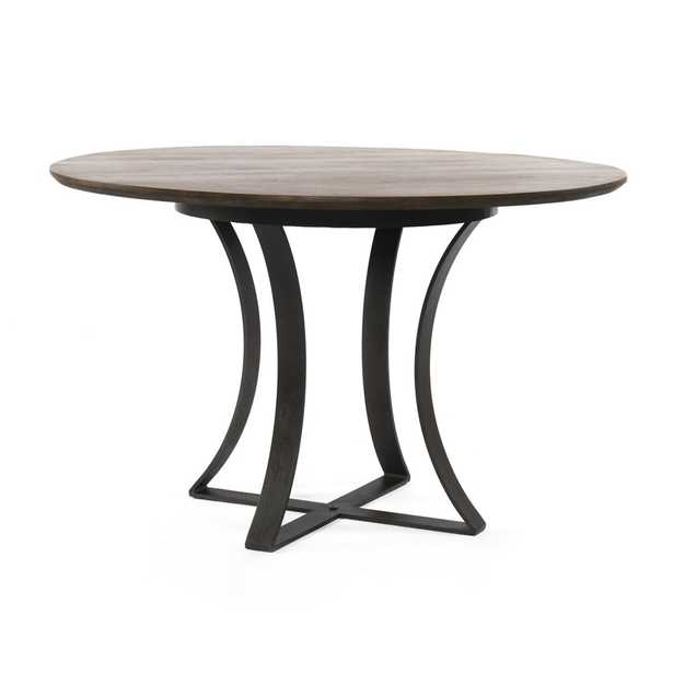 """Gage 48"""" Brown Wood Top Dining Table - Crate and Barrel"""
