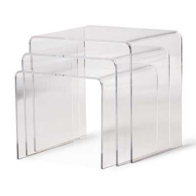 Brierly Clear Acrylic 3 Piece Nesting Tables - Wayfair