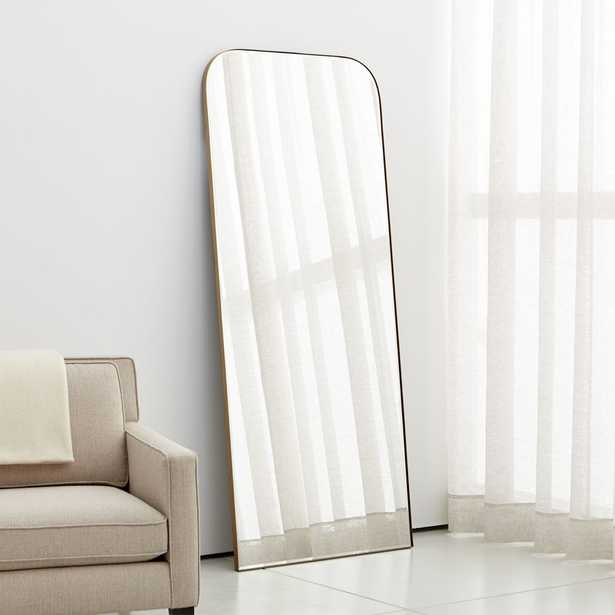 Edge Brass Arch Floor Mirror - Crate and Barrel