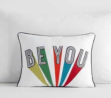 Be You Pillow, 12x16, Multi - Pottery Barn Kids
