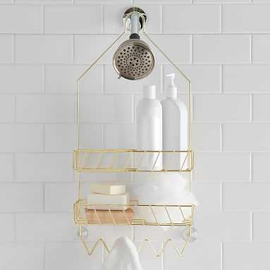 Wire Fixed Shower Caddy, Gold - Pottery Barn Teen