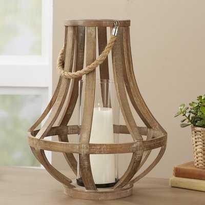 Glass/Wood Lantern - Birch Lane