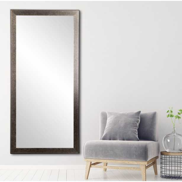 BrandtWorks 32 in. x 71 in. Distressed Black Metal Floor Mirror - Home Depot