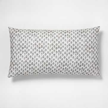 Organic Stamped Dot King Sham, Frost Gray - West Elm
