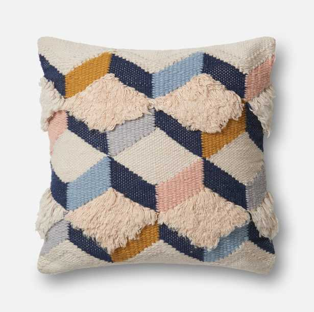PILLOWS - NAVY / PINK - Magnolia Home by Joana Gaines Crafted by Loloi Rugs