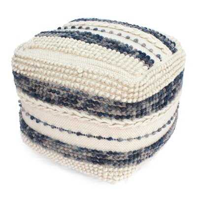 Michaels Contemporary Wool and Cotton Pouf Ottoman - Wayfair
