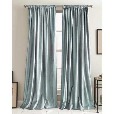 Modern Knotted Cotton Blend Solid Room Darkening Rod Pocket Curtains - AllModern