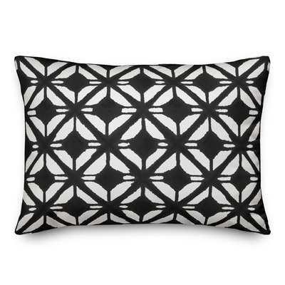Kernan Diamond Lumbar Pillow, Black/White - Wayfair