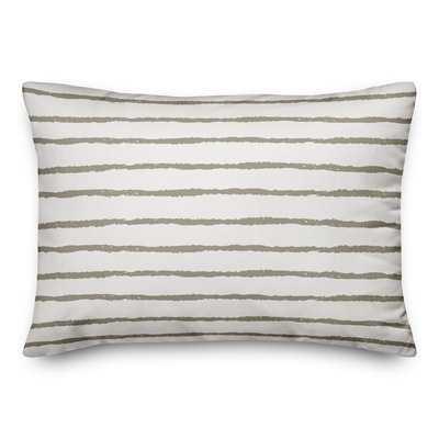Martin Stripes Outdoor Lumbar Pillow - Wayfair