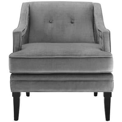 Bedelia Button Tufted Upholstered Velvet Armchair - Wayfair