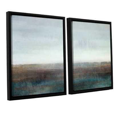 Landscape Ground Fog 2 Piece Framed Painting Print Set - Wayfair