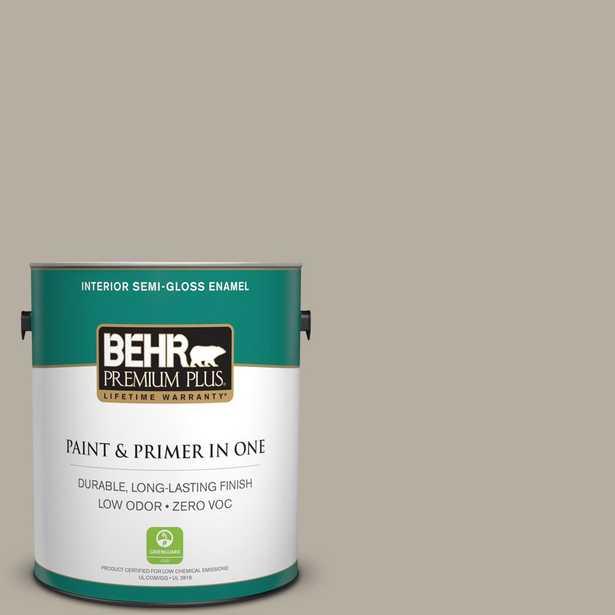 BEHR Premium Plus 1 gal. #N320-4 Camping Tent Semi-Gloss Enamel Zero VOC Interior Paint and Primer in One - Home Depot