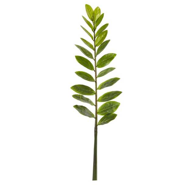 Nearly Natural 28 in. Zamioculcas Artificial Flower Stem (Set of 6) - Home Depot