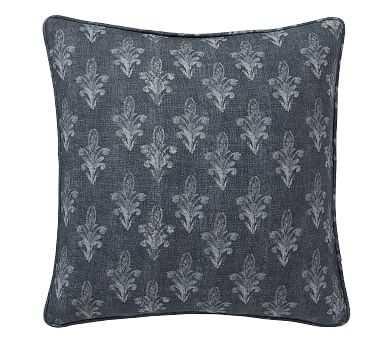 "Linnea Print Pillow Cover, Blue Multi, 20"" - Pottery Barn"
