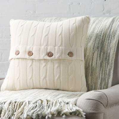 Harrietstown Cable-Knit Cotton Throw Pillow - Birch Lane