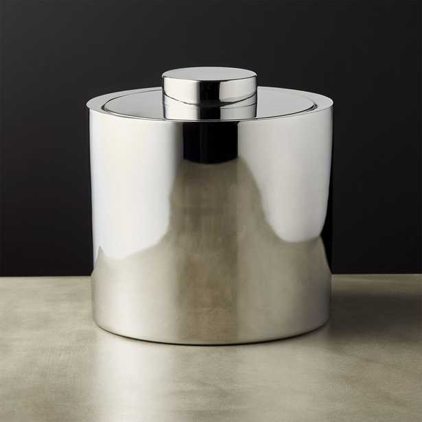Column Stainless Steel Ice Bucket with Lid - CB2