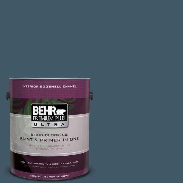 BEHR Premium Plus Ultra 1-gal. #S480-7 Midnight in the Tropics Eggshell Enamel Interior Paint - Home Depot
