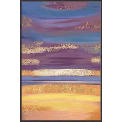 'Golden Nebula' Framed Graphic Art Print - Wayfair