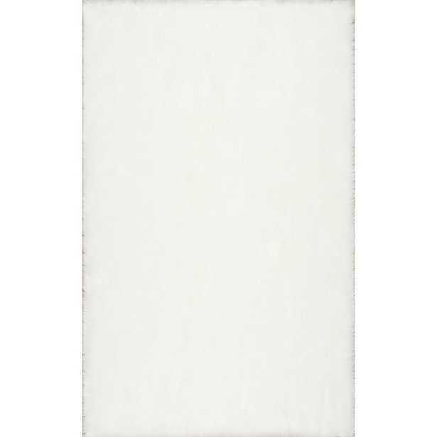 Rodolfo Faux Sheepskin Shag White 8 ft. x 10 ft. Area Rug - Home Depot
